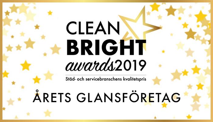 Kundpartner Vinnare i Clean Bright Awards Årets Glansföretag – bäst i branschen